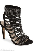 New $149 Vince Camuto Katal Black True Suede Studded Evening Dress Heels... - $1.413,66 MXN