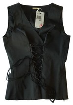 New $128 Max Studio Black Corset Vest Size XS - $43.46