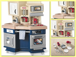 Chef Kitchen Kids Toy Set Cooking Play Dishes C... - $104.48