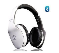 White Bluetooth Headphones / Headset with Swipe Control, Mic for Smart P... - $92.04