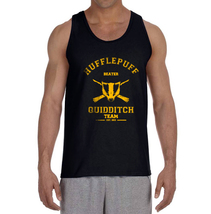 SEEKER Old Hufflepuff Quidditch team Yellow ink Men Tank top Color BLACK - $23.00