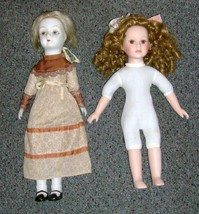SEYMOUR MANN CONNOISSEUR COLLECTION PORCELAIN DOLL WITH 2ND EXTRA BISQUE... - $40.00