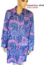 RALPH LAUREN Robe Savile Cotton Sleepshirt Slee... - $26.10