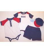 NWT Babyworks 4 Pc. Baseball Theme Double Creep... - $14.99