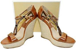 Michael Kors Zeppa Sherie Espadrillas Bagaglio Scarpa Sandalo 39 image 6