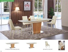 ESF 2196 Table With 2026 Chairs Dining Set 5pc. Glass Top Contemporary Modern