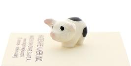 Hagen-Renaker Miniature Ceramic Pig Figurine Spotted Piglets Standing & Sitting image 4