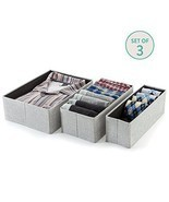 Collapsible Organizing Boxes For Closet Storage Office Kids Room 3 Piece... - $30.25