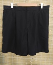 GREG NORMAN MEN'S GOLF SHORTS BLACK SIZE 39 PLEATED FRONT 100% POLYESTER... - $4.89