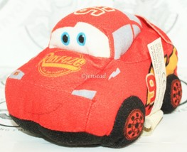 "CARS LIGHTNING MCQUEEN - SMALL PLUSH TOY FIGURE 5"" DISNEY PIXAR USED 2009 - $8.88"