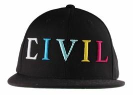 Civil Clothing Unisexe Noir CMYK Logo Trap Baseball Snapback Chapeau Nwt