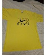"Nike Air T Shirt large  Mens Vintage White bright yellow "" AIR NIKE"" (30) - $20.00"