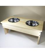 Dog Feeding Stand Station Dog Bowl Dog Food Water Bowl Dispenser Rack Stand - $26.65