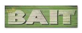Live Bait - Handmade Wood Block Fishing Sign - $9.99