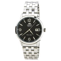 Orient ER2700BB Men's Symphony Automatic Textured Black Dial Stainless S... - $247.35
