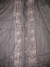 Cubavera Guayabera Cuban Wedding Button Up Shirt Sz L Cigar Smoking - $34.99