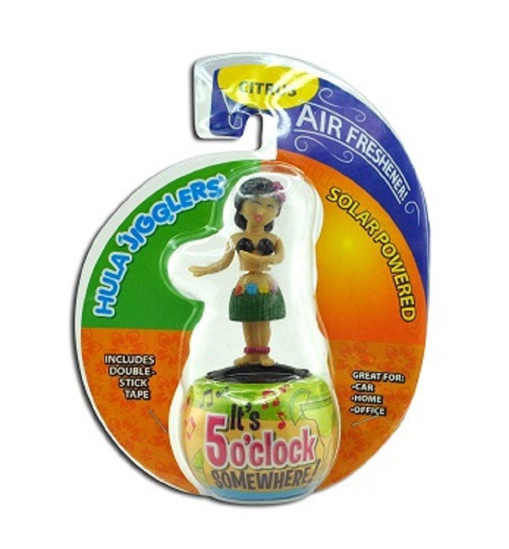 All-in-One Dancing Hula Girl Solar Jiggler w/Air Freshener - One Item at Random