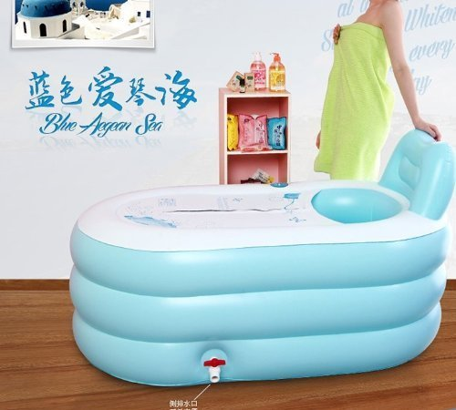 new fashion adult spa inflatable bath tub with air pump bathing grooming. Black Bedroom Furniture Sets. Home Design Ideas