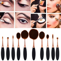 10pcs Makeup Brush Set Beauty Care 24 Hours Skin Care Creative Gifts Ros... - $34.99+