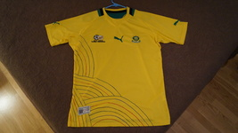 South Africa World Cup Soccer Jersey, Puma, NEW/MINT Condition, Medium Mens - $24.95