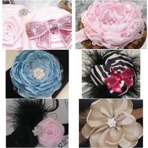 Baby Girl Headband, Pink, Blue, Red, Beige, Black Or  Zebra Print - $8.99