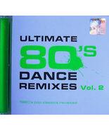 Ultimate 80's Dance Remixes Vol.2 1980's Pop Classics Revisited 2CD New ... - $19.99