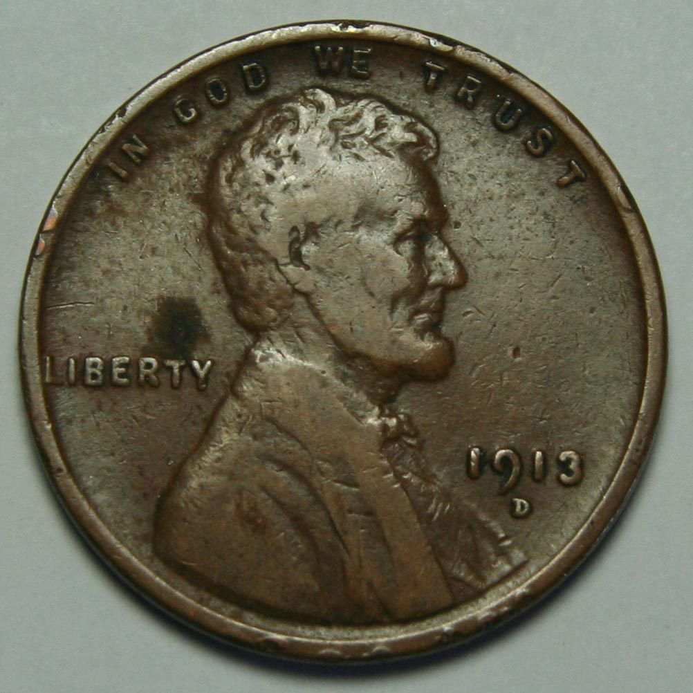 1913D LINCOLN PENNY CENT Date COIN LOT# A 1424