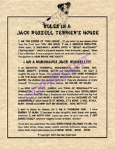 Rules In A Jack Russell Terrier's House - $20.70