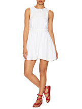 Free People Dress 6 S Birds of a Feather Mini White Cotton OB483603 Embroydered  - $79.95