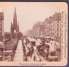 Edinburgh, Scotland Stereoview - Busy Princess Street - $12.75