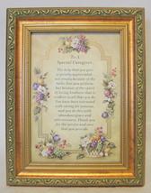 Caregivers Blessing Framed Plaque 2001 - $35.63