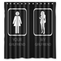 Funny Girls Bathroom #01 Shower Curtain Waterproof Made From Polyester - $29.07+