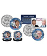 DONALD TRUMP & MIKE PENCE REPUBLICAN PRESIDENT 2016 JFK HALF DOLLAR 2 CO... - $22.99