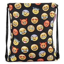 Flora Mcqueen 18''X13.75'' Gym Sack Bag Drawstring Backpack With Emoji F... - $21.63