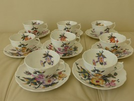 COALPORT POSYDALE Cups and Saucers Set of 8 - $129.00