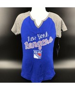 NHL New York Rangers Girls Shirt Short Sleeves Size XL (14/16) -NEW With... - $19.99