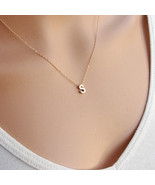 Custom Select Letters Personalized Initial Name Necklace Couple Pendant ... - $9.46