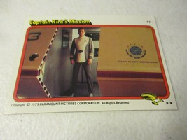 1979 Paramount Pictures Star Trek Motion Picture Card #11 Captain Kirk's... - $1.97