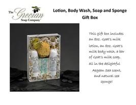Lotion & Body Wash Gift Set with Sponge - Aegean Sea - $39.33