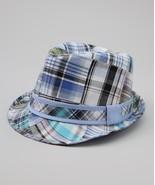 Angela & William Azure Plaid Fedora Boys Fashion Hat MSRP $34.00 SAVE $1... - $24.00