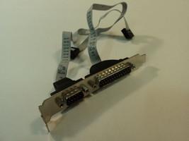 Standard Motherboard Adapter DB-25 DE-9 Male Serial 686-122614 - $7.33