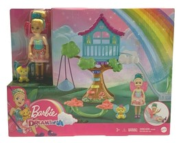 Barbie Dreamtopia Chelsea Fairy Doll and Fairytale Treehouse Playset New... - $25.73