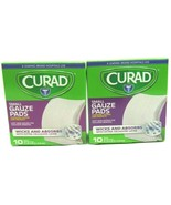 "Curad Non-Woven Small Gauze Pads, 2"" x 2"" ~10 PC~ Pack of Two - $7.66"
