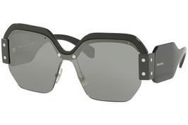 Miu Miu Runway Sorbet Women's Sunglasses Smu 09S Black Oversized Mirrored Lens - $185.77
