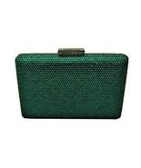 Anthony David Emerald Green Austrian Crystal Clutch Evening Bag - $64.99