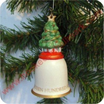 Hallmark 1992 O Christmas Tree Bell Ornamen Item Id: QX5411 image 2