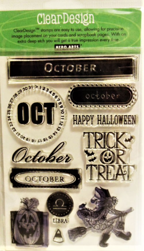 "Primary image for Hero Arts Clear Design ""October"" Stamp Set"