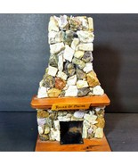 Stone Fireplace with Chimney handcrafted Rocks of Maine with wood mantle... - $69.30