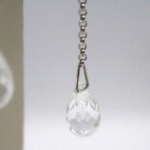 Drop earrings 18k White Gold, Chain Rolo, Tourmaline Drop image 2