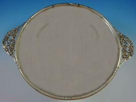 William De Matteo Sterling Silver Sandwich Tray with Lily #212H (#1416) - $989.00